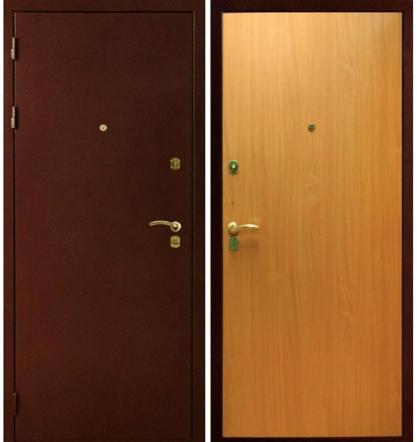 железные двери с покрытием антик