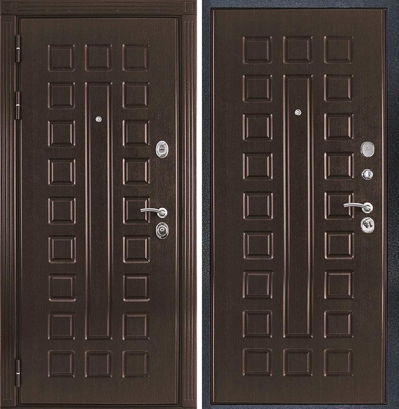 двери металлические с отделкой шпон венге