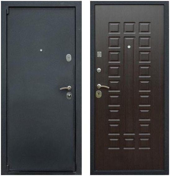 купить металлическую дверь цвета венге