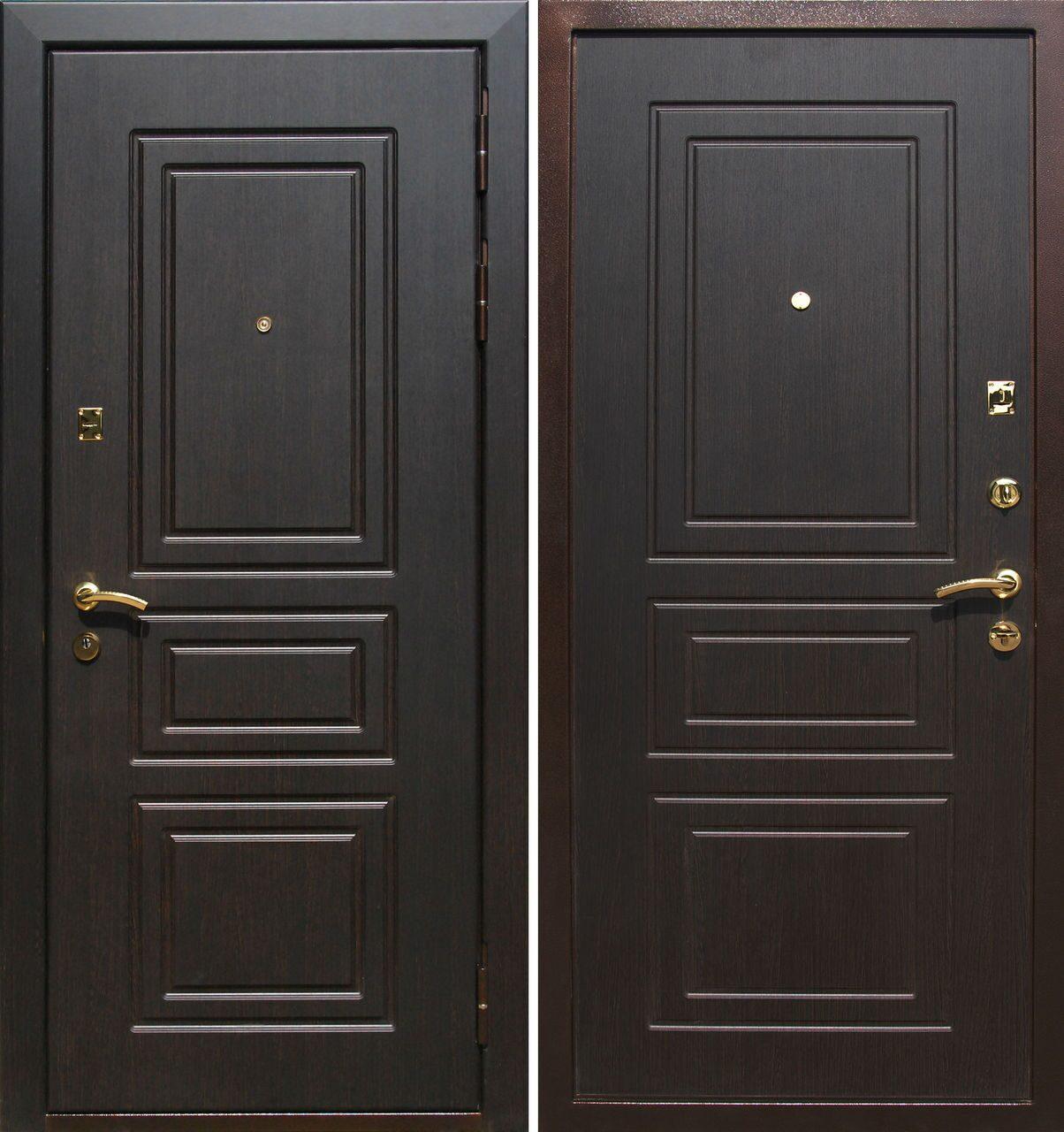 металлические двери мдф с 2 х сторон