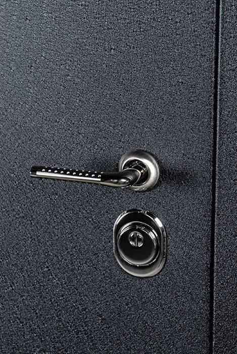 металлическая дверь покрытие черный шелк
