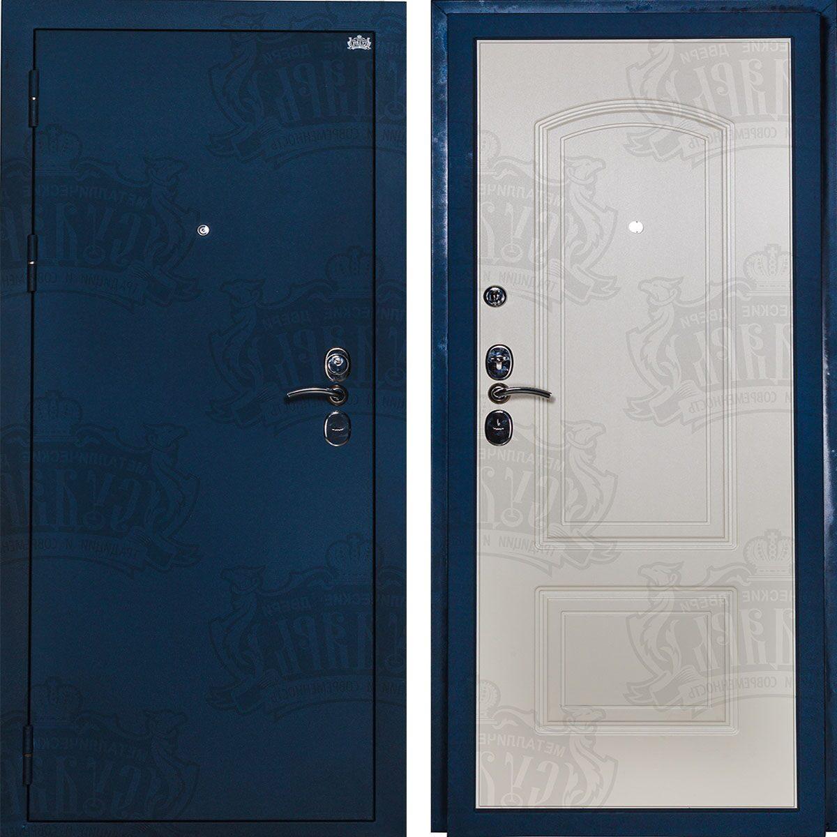 входные двери синий бархат