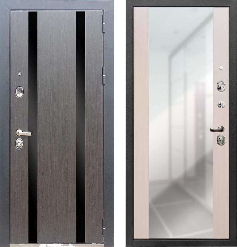 дверь входная с зеркалами